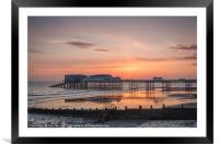 A New Day at Cromer Pier, Framed Mounted Print