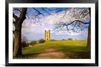 Broadway Tower The Cotswolds, Framed Mounted Print