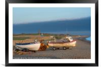 Morning Sun on the Fishing Boats, Framed Mounted Print