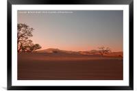 Sand dunes at Sossusvlei, Framed Mounted Print