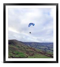 Paragliding in the Peak District, Framed Mounted Print