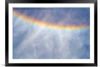Rainbow at Iguazu Falls, Argentina, Framed Mounted Print
