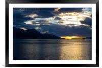 Sunrise over Ushuaia, Argentina, Framed Mounted Print