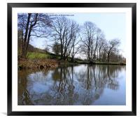 Middle Pond - Lumsdale, Derbyshire, Framed Mounted Print