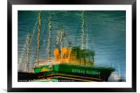 Boat Reflection, Framed Mounted Print
