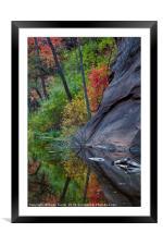 Oak Creek Canyon, Framed Mounted Print
