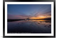 November Sunrise at St Marys Island, Framed Mounted Print