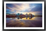 As the sun goes down ., Framed Mounted Print