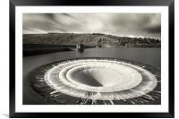 Overspill at Ladybower reservoir , Framed Mounted Print