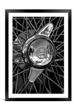 Wheel detail from SS100., Framed Mounted Print