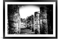 Warrior temple, Mexico, Framed Mounted Print