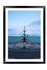 Sun Voyager, Reykjvik, Iceland, Framed Mounted Print