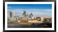 Tower of London and City of London , Framed Mounted Print