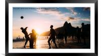 Keepy Uppy on Ipanema Beach, Rio de Janeiro, Brazi, Framed Mounted Print