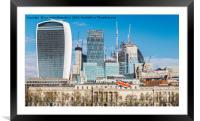 City of London, UK, Framed Mounted Print