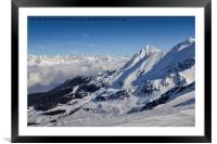 Alps at Winter, Framed Mounted Print