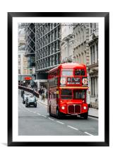 London Routemaster Bus, Framed Mounted Print