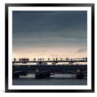 Millennium Bridge, London, Framed Mounted Print