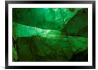 Crystalline Green, Framed Mounted Print