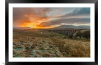 Sunrise at Ribblehead Viaduct, Framed Mounted Print