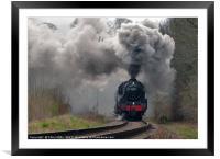 Full Steam Ahead, Framed Mounted Print