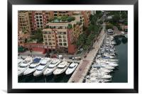 Monte Carlo Marinas, Framed Mounted Print