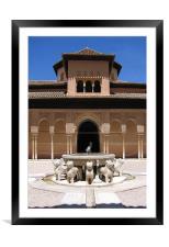 The Alhambra in Granada, Spain, Framed Mounted Print