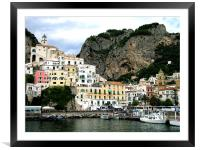 Amalfi in Italy, Framed Mounted Print