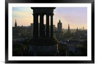 Edinburgh at dusk, Framed Mounted Print