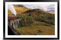 Steam train on Glenfinnan Viaduct Scotland, Framed Mounted Print
