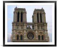 Notre Dame de Paris, Framed Mounted Print