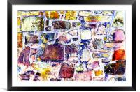 Abstract grunge wall art, Framed Mounted Print