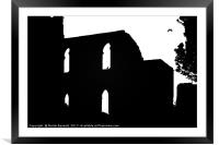 Silhouette of Malmesbury Abbey, Framed Mounted Print