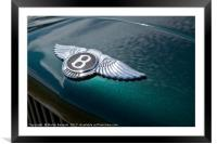 Bentley reflections, Framed Mounted Print