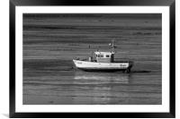 Waiting For The Tide on Swansea Bay, Framed Mounted Print