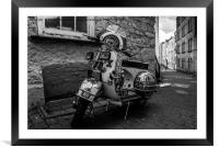Classic Motor Scooter, Framed Mounted Print