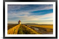Burry Port Lighthouse, Framed Mounted Print
