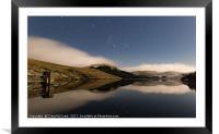 Afton Reservoir , Framed Mounted Print