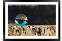 Reflections in the crystal ball, Framed Mounted Print