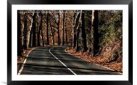 Road to Autumn, Framed Mounted Print