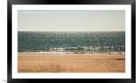 Sand, sea and sky, Framed Mounted Print