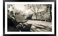 A bench to rest, Framed Mounted Print