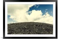 Mountain and sky, Framed Mounted Print