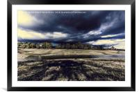 Threat storm, Framed Mounted Print