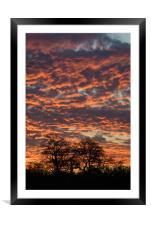 Fiery sky, Framed Mounted Print