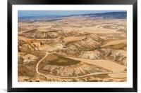 Desert landscape, Framed Mounted Print
