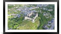 Harlech Castle from a different perspective, Framed Mounted Print