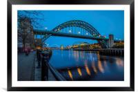 Tyne Bridge in Newcastle upon Tyne, Framed Mounted Print