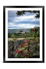 Angel of the North from afar, Framed Mounted Print