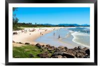 Byron bay Main beach, Framed Mounted Print